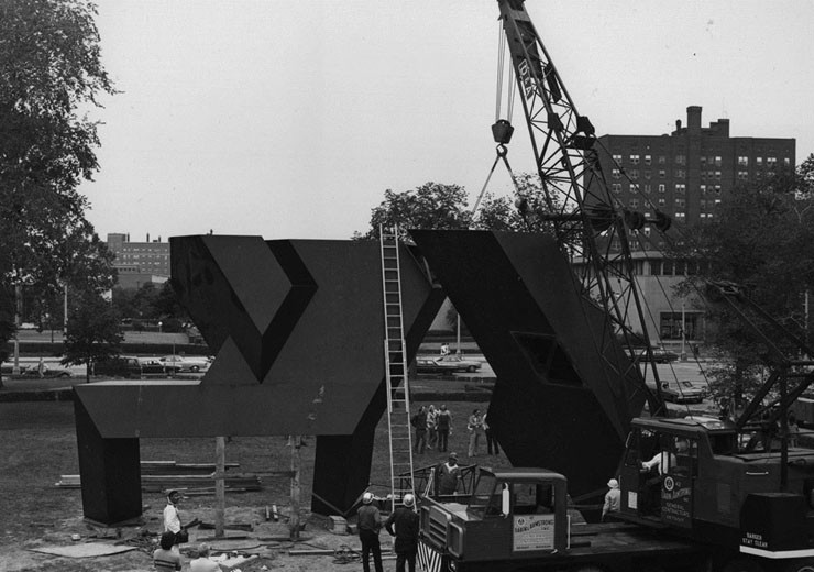 Installation on the DIA's North Lawn, 1972
