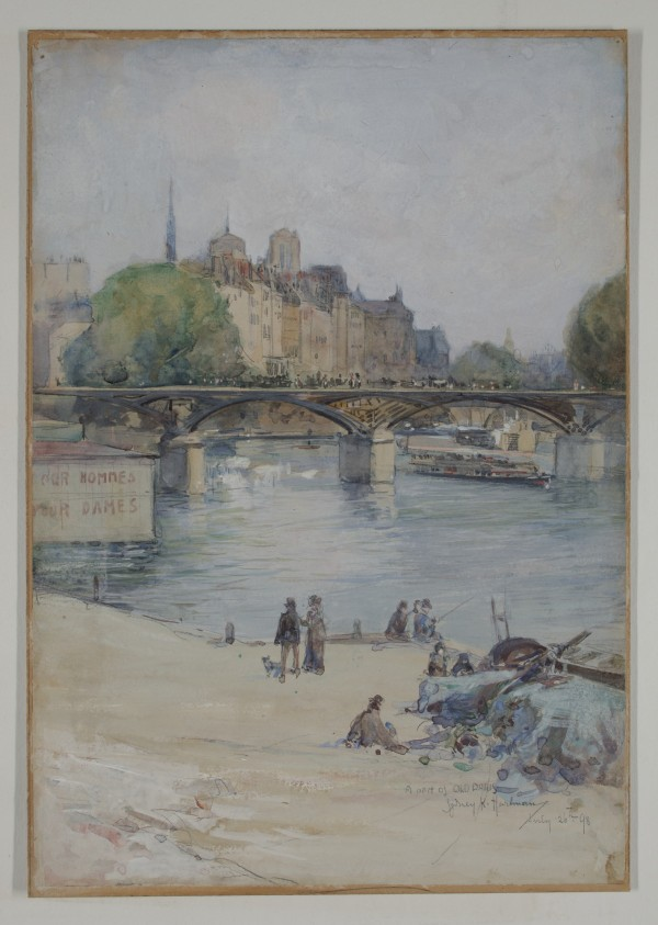Sydney K. Hartman, A Bit of Old Paris, 19th/early 20th Century, Watercolor. Detroit Institute of Arts.