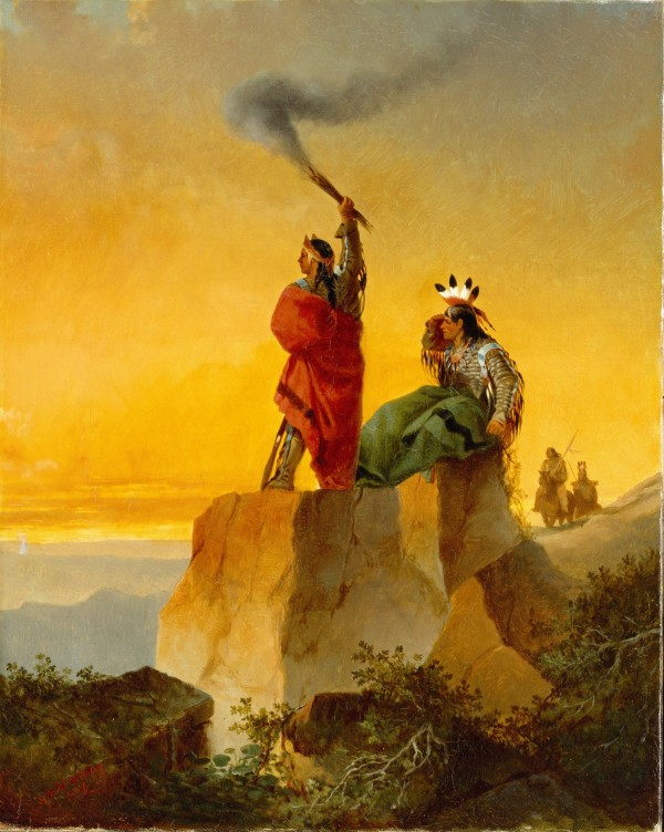 John Mix Stanley, Indian Telegraph, 1860, oil on canvas. Detroit Institute of Arts.