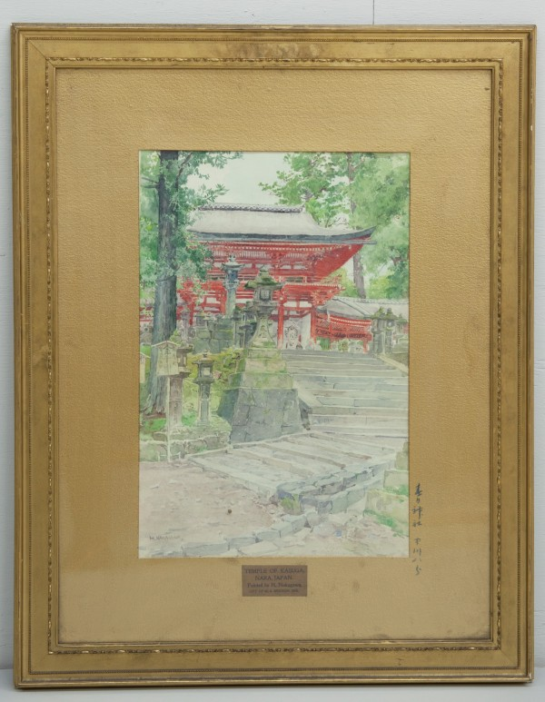Hachiro Nakagawa, The Temple of Kasuga, late 19th/early 20th Century, Watercolor. Detroit Institute of Arts.