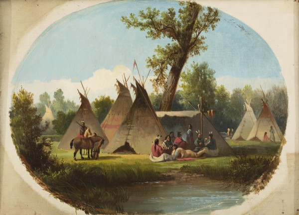 John Mix Stanley, Assiniboin Encampment on the Upper Missouri, between 1860 and 1870, oil on canvas. Detroit Institute of Arts.