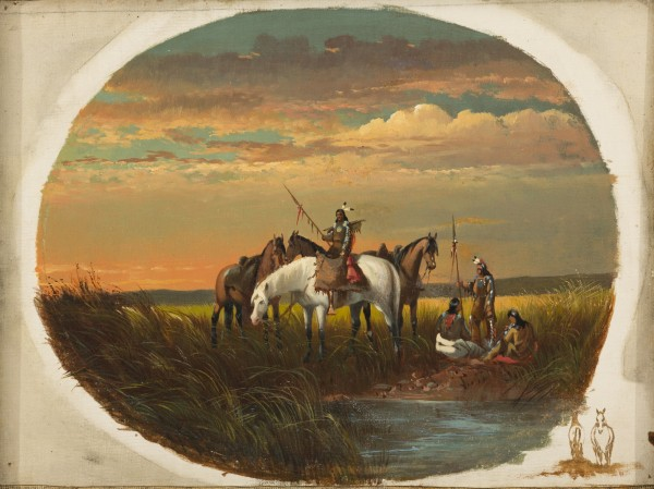 John Mix Stanley, A Halt on the Prairie for a Smoke, between 1860 and 1872, oil on canvas. Detroit Institute of Arts.