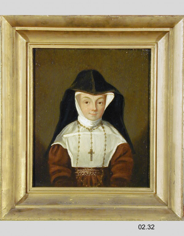 William Heatley Wilder, Marie France Vindevogel, First Abbess of the St. Clair Sisters, after 1833, oil on academy board. Detroit Institute of Arts.