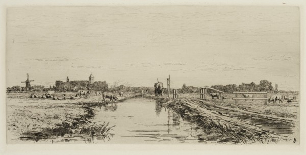 Carel Nicolaas Storm van s' Gravesande, The Road from Weesp to Muiden, c. 1877, Etching and drypoint printed in black ink on laid paper. Detroit Institute of Arts.