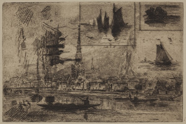 Carel Nicolaas Storm van s' Gravesande, View of Dinant, c. 1871, Etching and aquatint printed in black ink on laid paper. Detroit Institute of Arts.