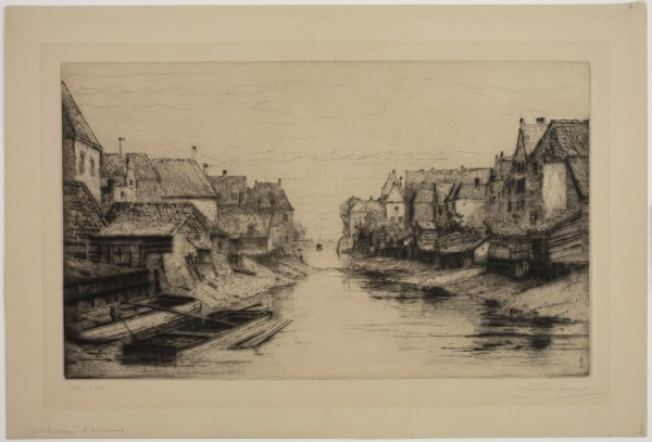 Carel Nicolaas Storm van s' Gravesande, Old Harbor at Flushing, 1880/1884, Drypoint printed in black ink on wove paper. Detroit Institute of Arts.