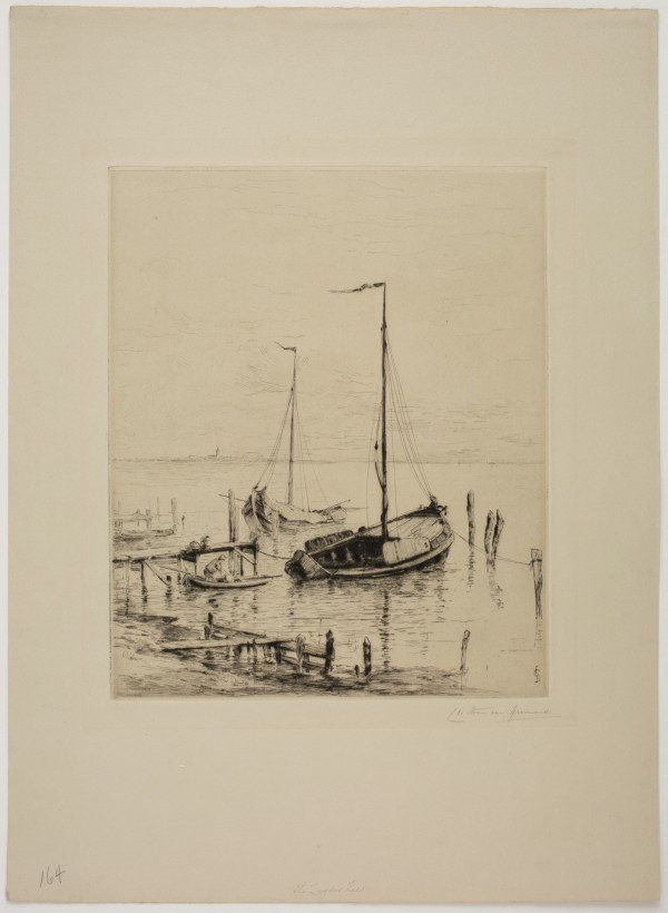 Carel Nicolaas Storm van s' Gravesande, Boats on the Zuyderzee, 1880/1884, Drypoint printed in black ink on wove paper. Detroit Institute of Arts.
