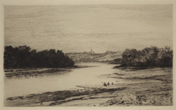 Carel Nicolaas Storm van s' Gravesande, Auray, 1880/1884, Drypoint printed in black ink on laid paper. Detroit Institute of Arts.