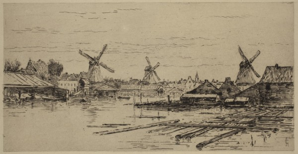 Carel Nicolaas Storm van s' Gravesande, In the Surburbs of Amsterdam, 1880/1884, Etching and drypoint printed in black ink on laid paper. Detroit Institute of Arts.