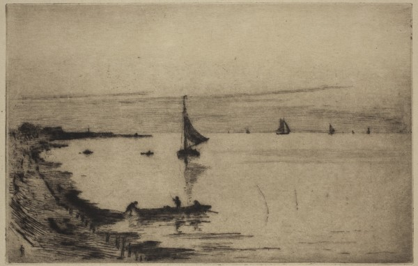 Carel Nicolaas Storm van s' Gravesande, Bergen op Zoom, High Tide, c. 1884, Drypoint printed in black ink on laid japan paper. Detroit Institute of Arts.
