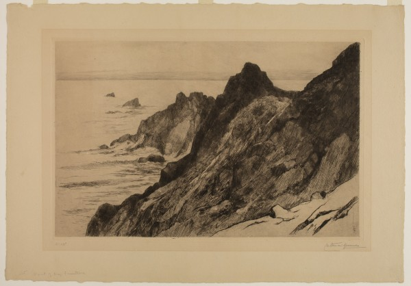 Carel Nicolaas Storm van s' Gravesande, The Point of Raz (Finisterre), c. 1887, Etching and drypoint printed in black ink on wove paper. Detroit Institute of Arts.