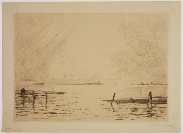 Carel Nicolaas Storm van s' Gravesande, Venice Lagoon, 1889/1903, Drypoint printed in brown ink on wove paper. Detroit Institute of Arts.