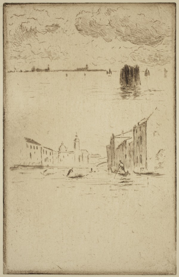 Carel Nicolaas Storm van s' Gravesande, Lagoon near Venice, 1889/1903, Etching and drypoint printed in brown ink on laid paper. Detroit Institute of Arts.