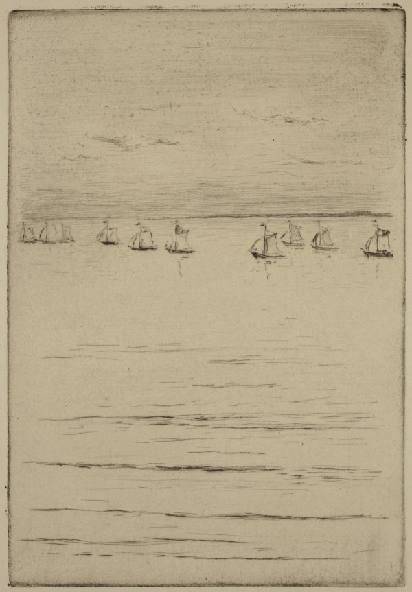 Carel Nicolaas Storm van s' Gravesande, Departure of the Fishing Boats, 1889/1903, Drypoint printed in black on laid paper . Detroit Institute of Arts.
