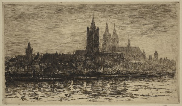 Carel Nicolaas Storm van s' Gravesande, Cologne, Evening, c. 1896, Etching and drypoint printed in brown on wove paper . Detroit Institute of Arts.