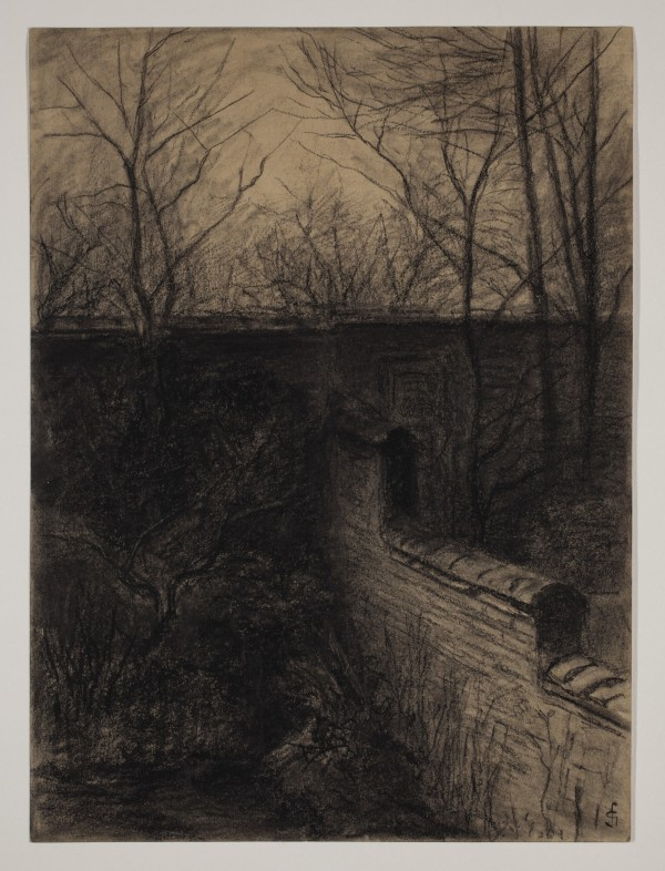 Carel Nicolaas Storm van s' Gravesande, Corner of My Garden, middle 19th/early 20th Century, Charcoal and black chalk on discolored wove paper. Detroit Institute of Arts.