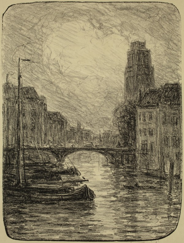 Carel Nicolaas Storm van s' Gravesande, Canal, Lithograph printed in black on wove paper . Detroit Institute of Arts.