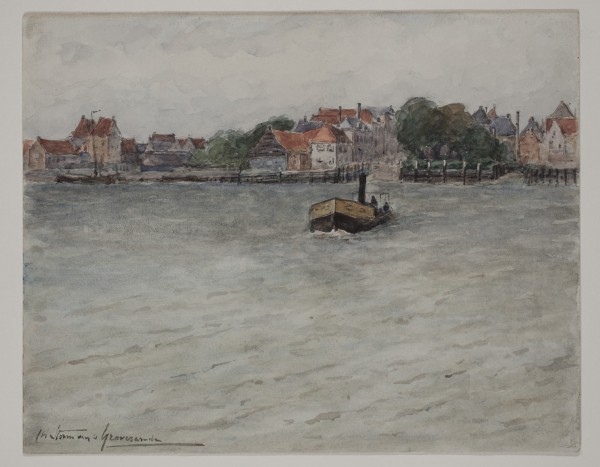 Carel Nicolaas Storm van s' Gravesande, Zwyndrecht, 1887, 1887, Watercolor over a preliminary drawing in graphite pencil on white wove paper. Detroit Institute of Arts.