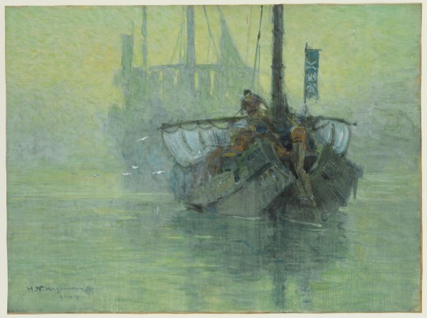Hachiro Nakagawa, Morning on the River, 1904, Watercolor . Detroit Institute of Arts.