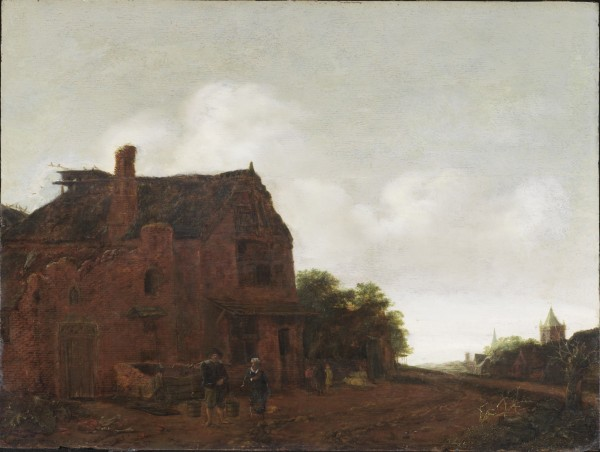 Emanuel Murant, The Farm Well, 1670's, Oil on oak panel. Detroit Institute of Arts.