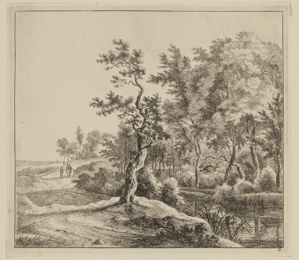Jan Hackaert, Curved Road, 17th Century, Etching printed in black on laid paper . Detroit Institute of Arts.