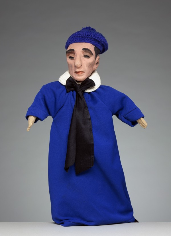 Jero Magon, Self Portrait, 1964, Molded and painted plastic wood head; cloth body, hands and glove . Detroit Institute of Arts.