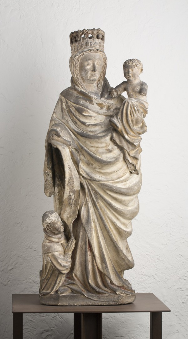 Unknown, Virgin and Child with Donor, 1450/1500, Limestone. Detroit Institute of Arts.