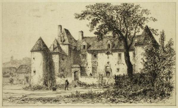 Maxime Francois Antoine Lalanne, Chenonceaux, 19th Century, Etching printed in black on tissue paper . Detroit Institute of Arts.