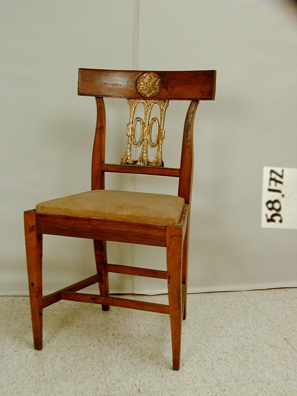 Unknown, Side Chair, 1800/1825, Gilded wood and brocade . Detroit Institute of Arts.