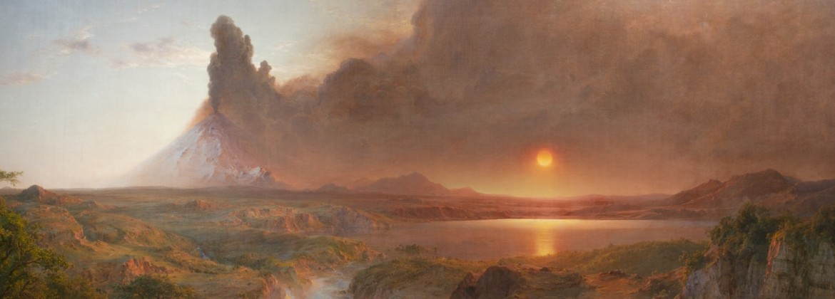 Painting of a sunset scene
