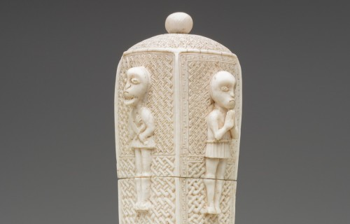 Kongo, Knife Case and Lid, 16th/18th Century, Ivory. Detroit Institute of Arts.