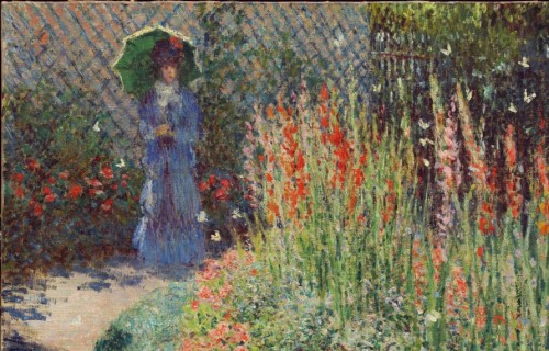 Painting of a garden scene