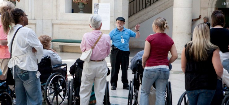 Differently-Abled visitors tour DIA
