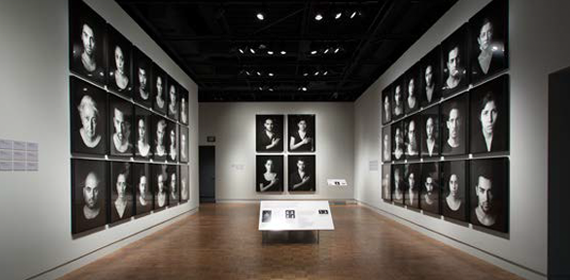 DIA Exhibition hall with black and white portraits on the wall