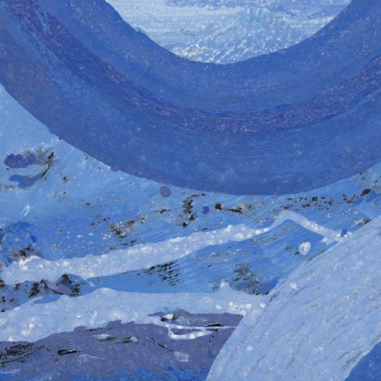 """""""All Blues,"""" 2008, Allie McGhee, American; mix/canvas. From the private collection of Nettie Seabrooks."""