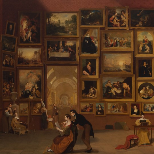 """""""Gallery of the Louvre,"""" Samuel F. B. Morse, 1931-33, oil on canvas. Terra Foundation for American Art, Daniel J. Terra Collection, 1992.51"""